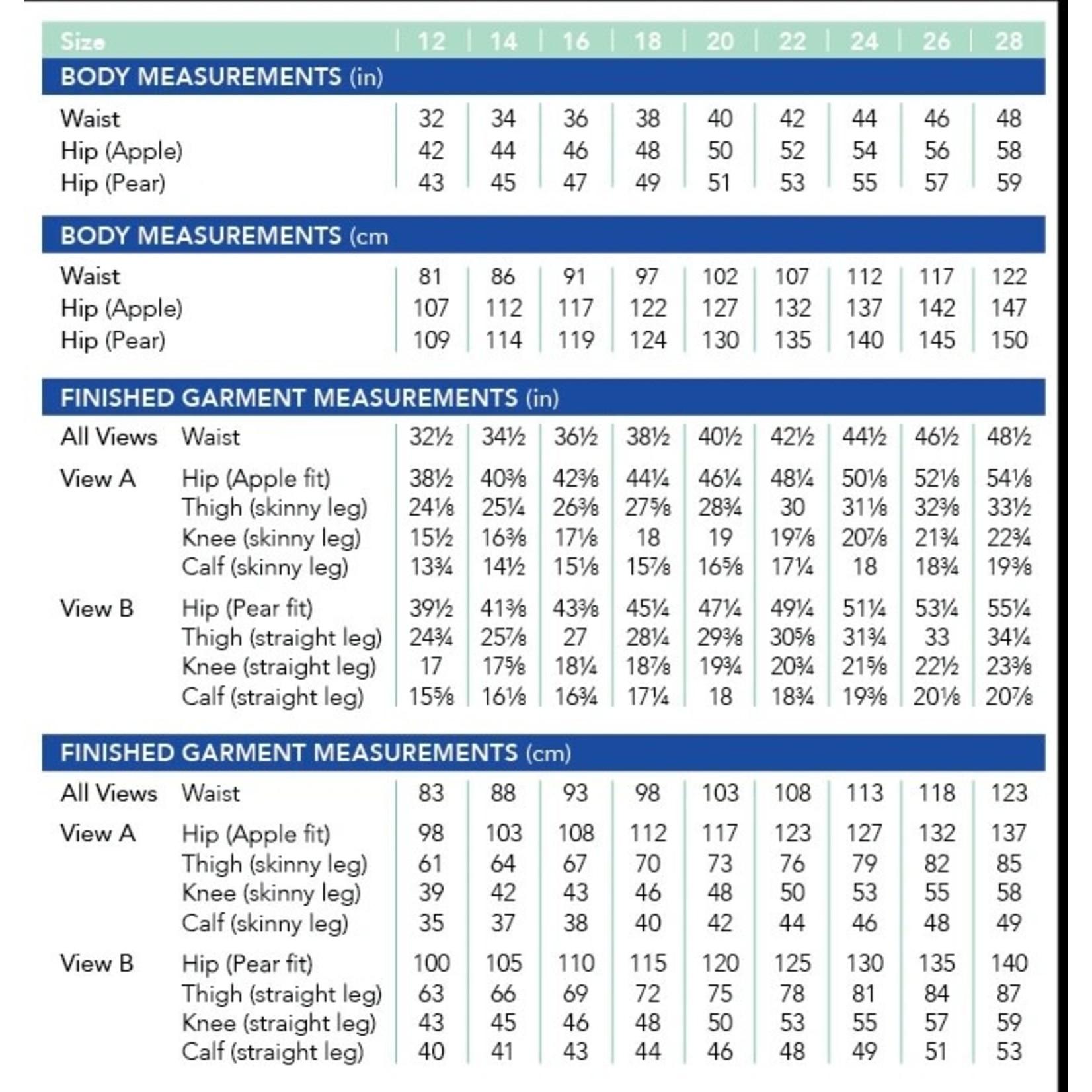 Cashmerette Ames Jeans Pattern 12-28 (Apple & Pear Fit)