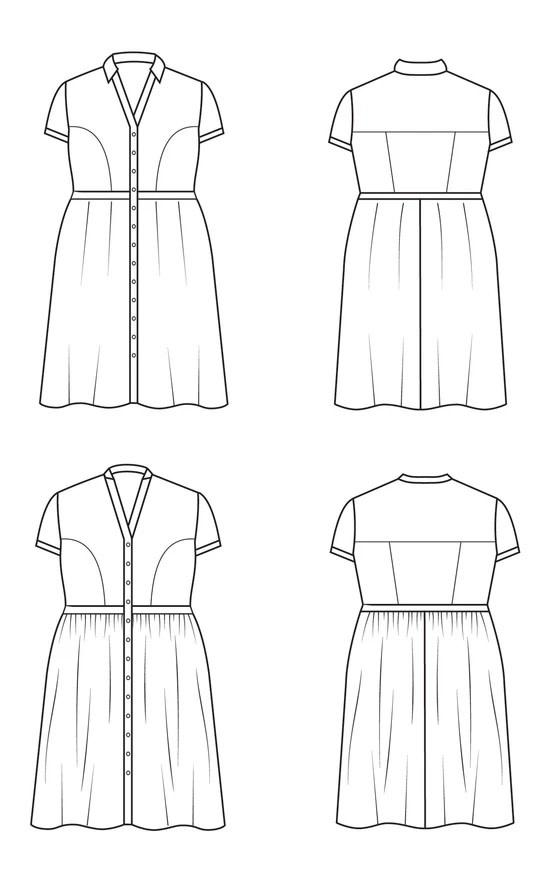 Cashmerette Lenox Shirtdress Pattern 12-28 (Cup C-H)