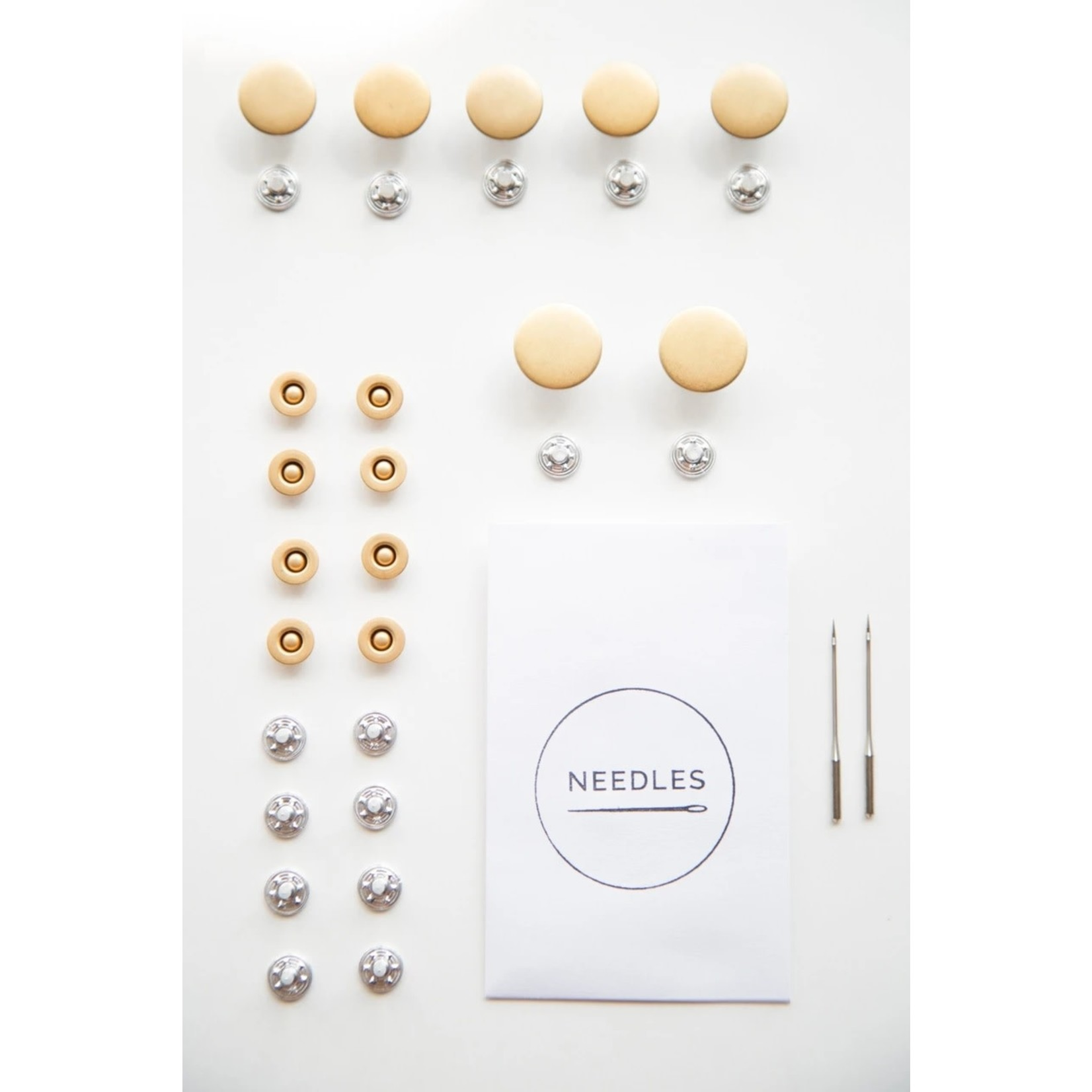 Closet Core Patterns Jeans, Button Fly Hardware Kit - Gold / Nickle / Brass
