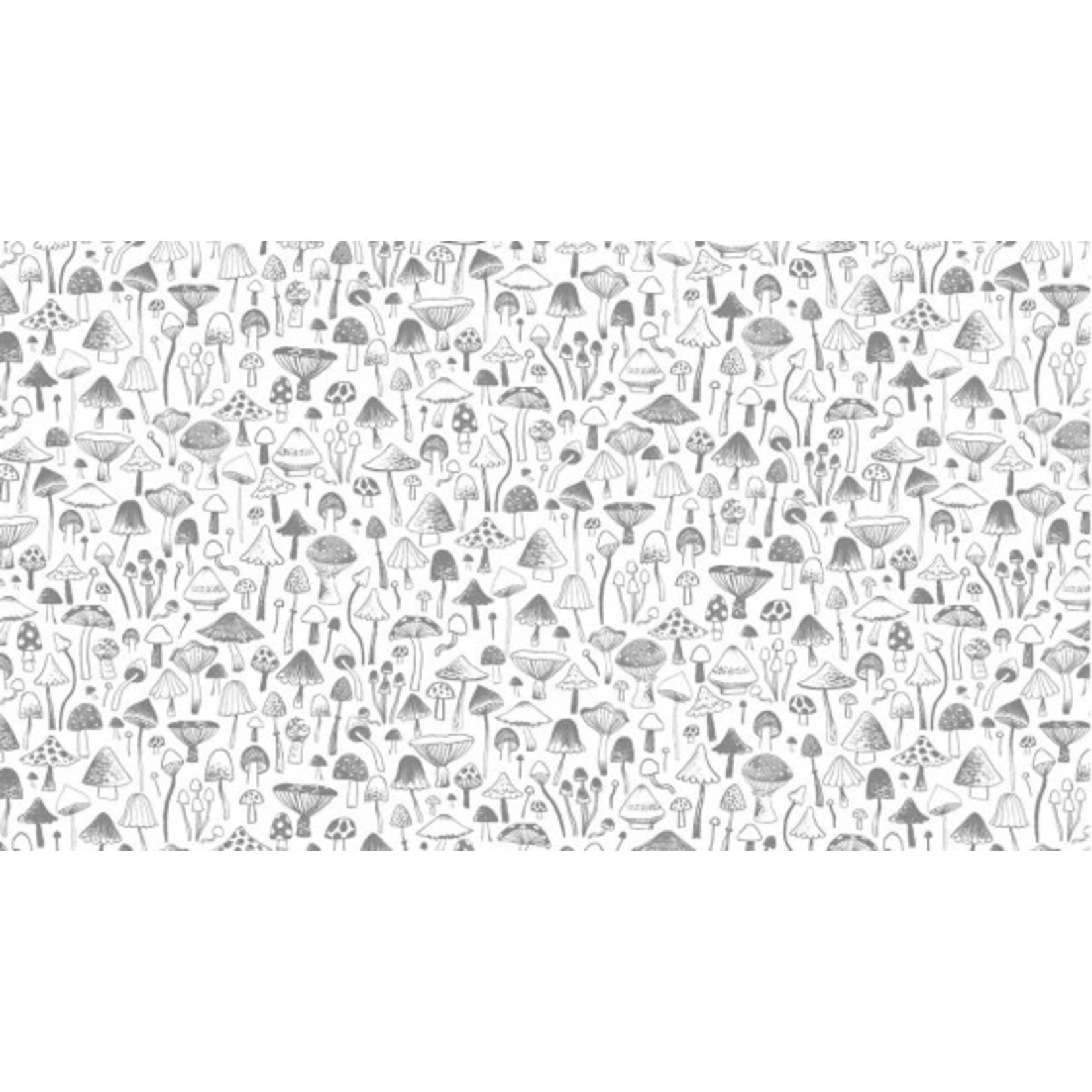 Dear Stella Autumn Journal, Mushrooms (White),  /cm or $20/m