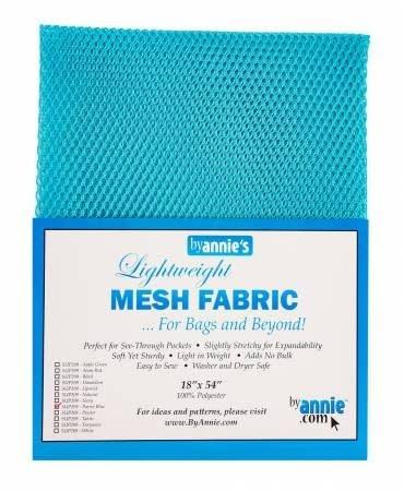 """Lightweight Mesh Fabric 18"""" x 54"""" Package, Parrot Blue"""