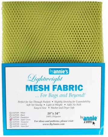 """Lightweight Mesh Fabric 18"""" x 54"""" Package, Apple Green"""
