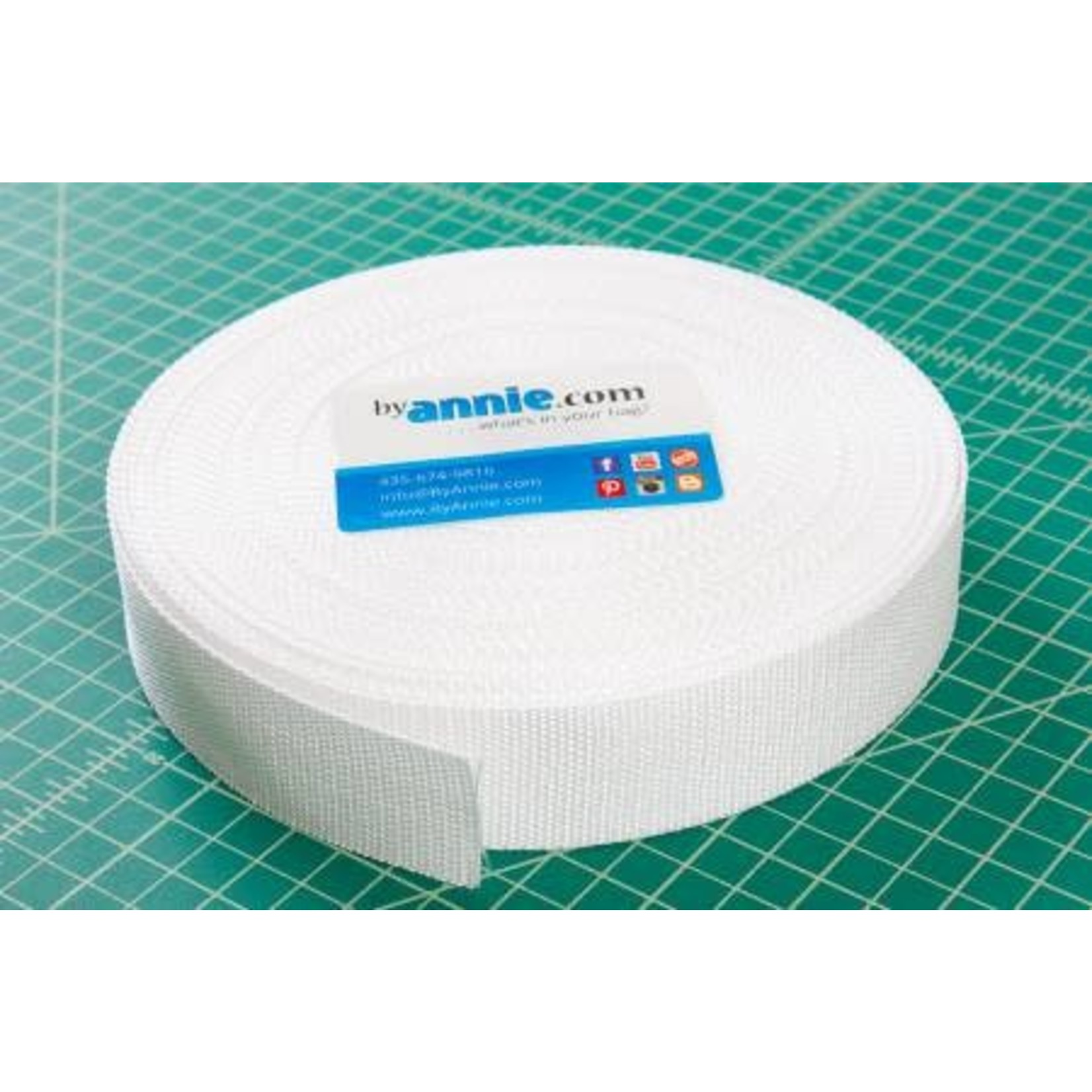"""Strapping - 1.5"""" wide, white per meter"""