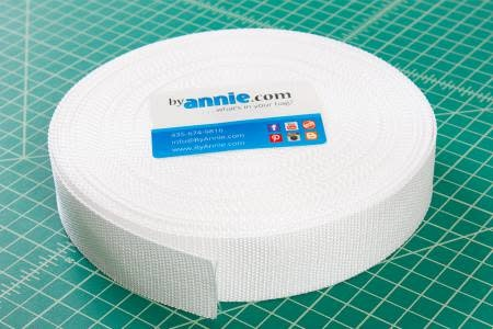 "Strapping - 1.5"" wide, white per meter"