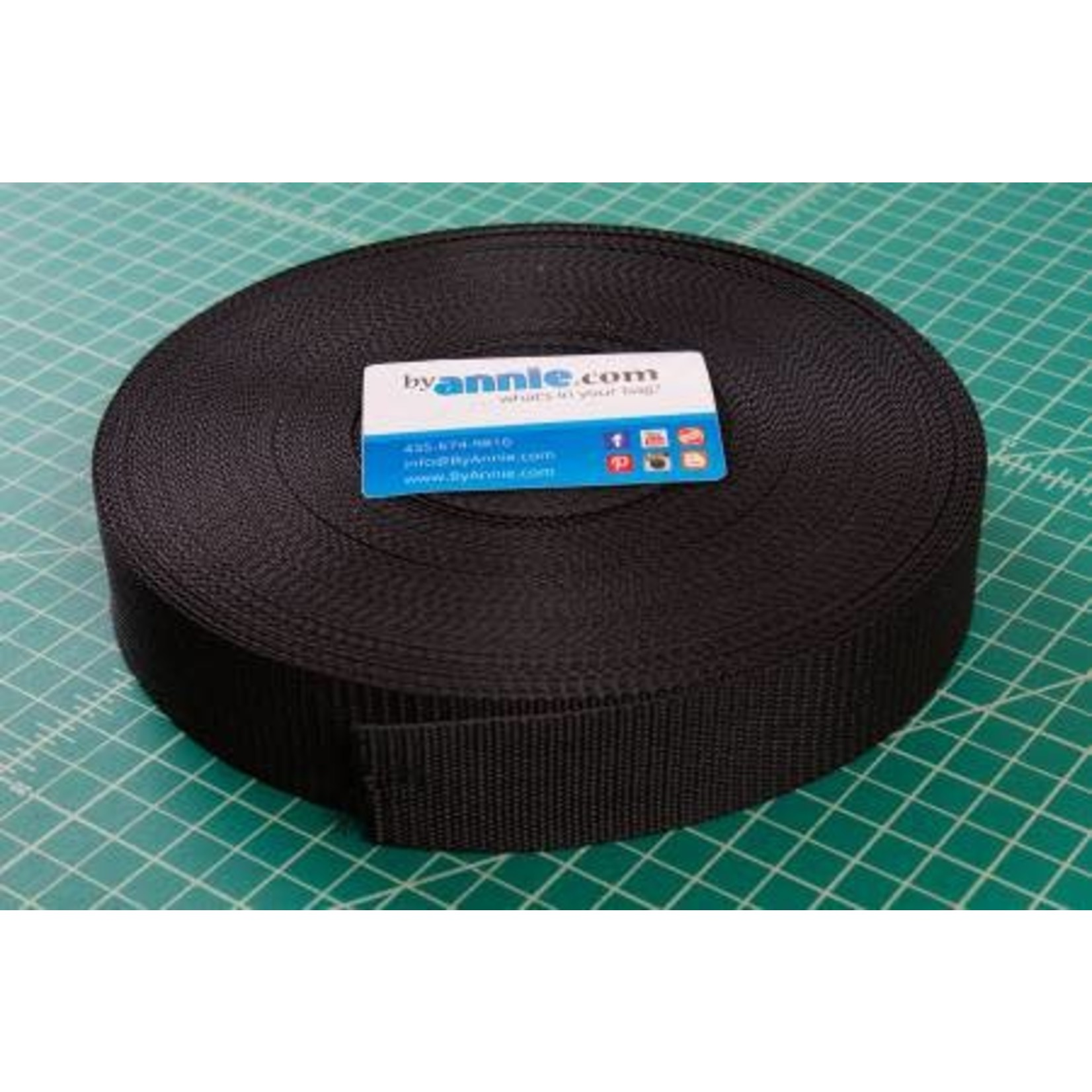 """Strapping - 1.0"""" wide, black per meter"""