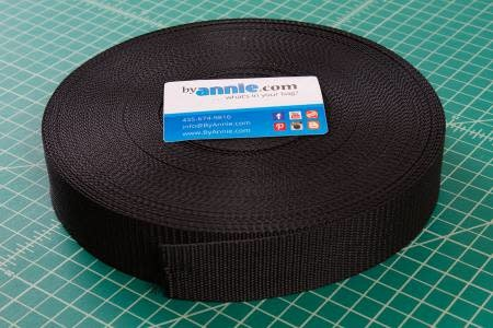 "Strapping - 1.0"" wide, black per meter"