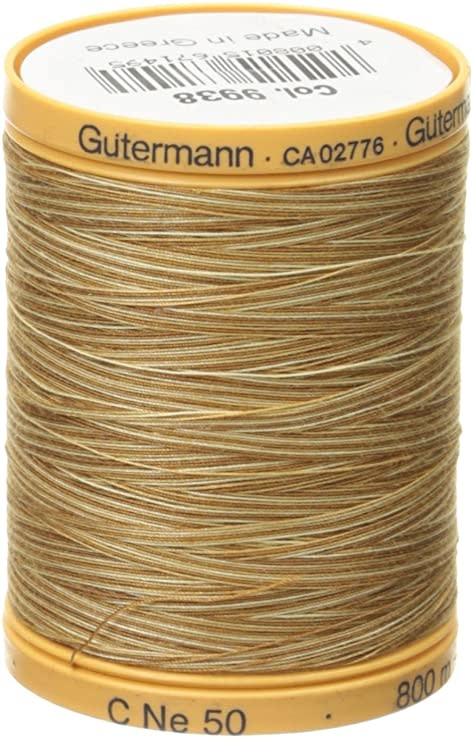 GUTERMANN Col.9938 Cotton 800m COFFEE AND CREAM VAR.