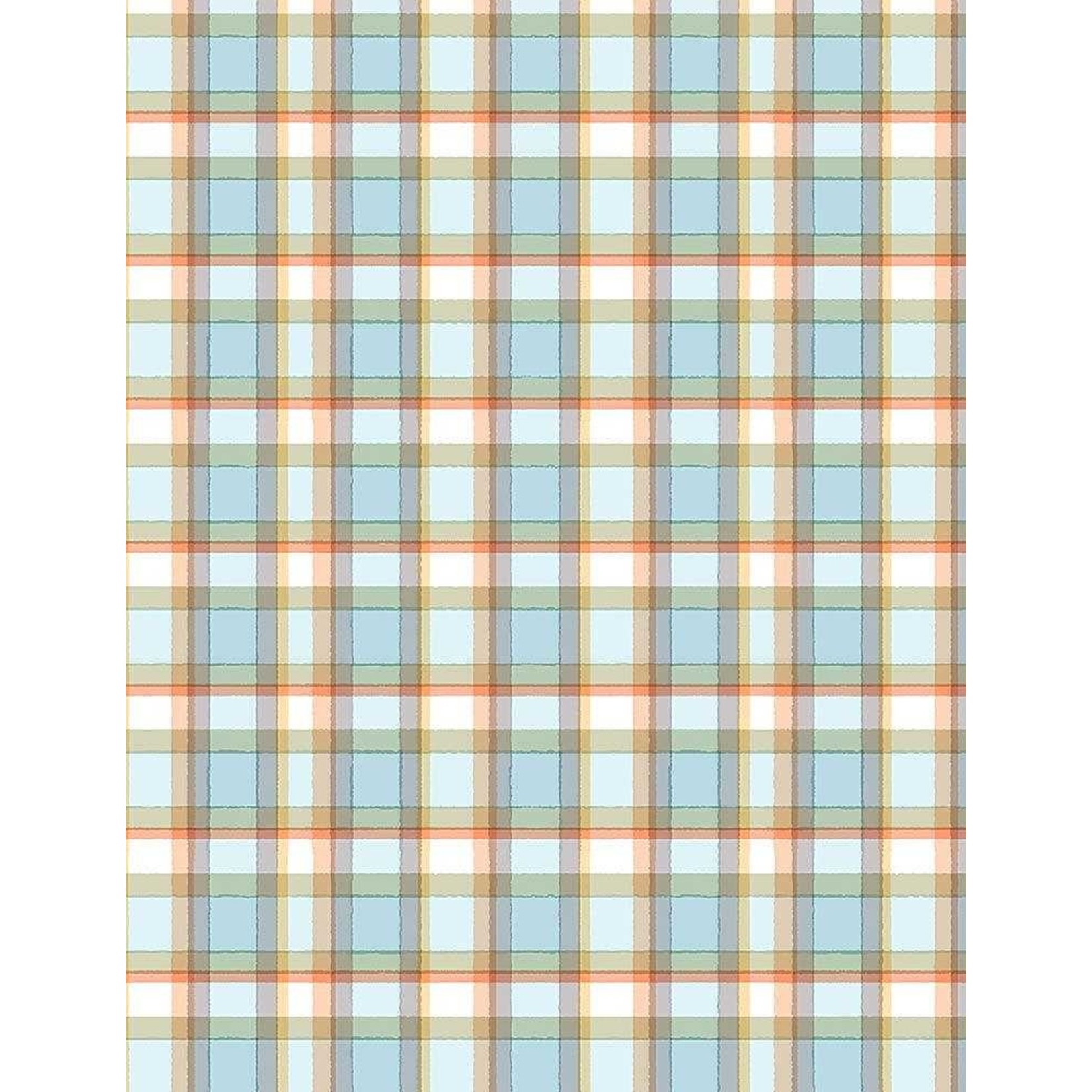TIMELESS TREASURES Snow Day, Flannel, Winter Plaid, per cm or $20/m