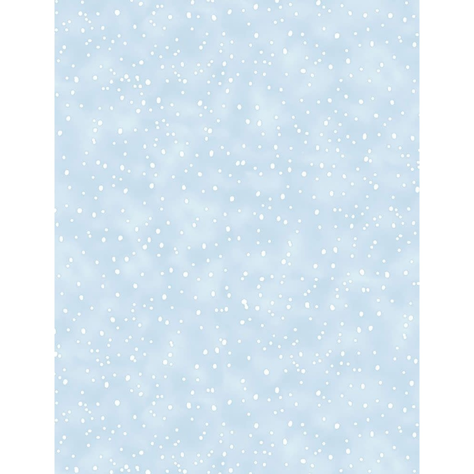 TIMELESS TREASURES Snow Day, Flannel, Snowing, Blue per cm or $20/m
