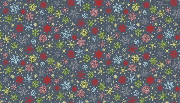 MAKOWER JOY - Snowflakes - grey, per cm or $20/m