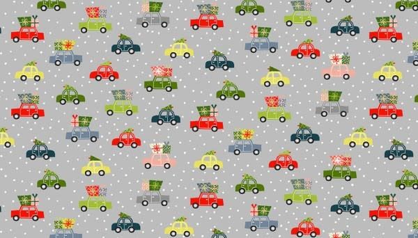 MAKOWER JOY - Cars - Grey, per cm or $20/m