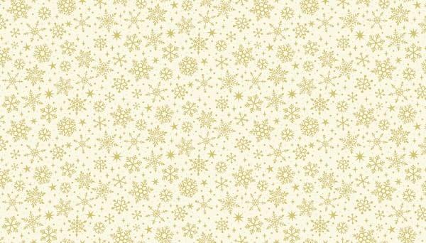MAKOWER Yuletide, Metallic Snowflake, Cream $0.20CM OR $20/M