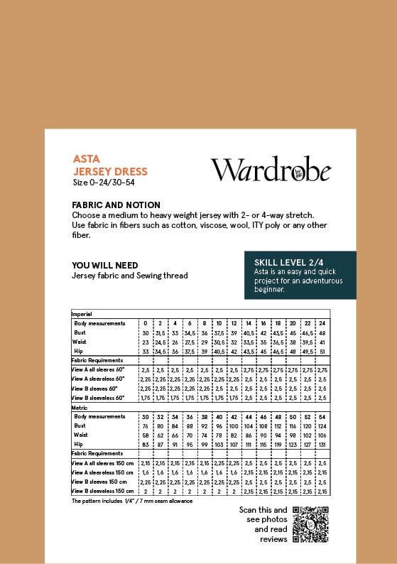 Wardrobe by Me Asta Dress Pattern 0-24 (30-54)