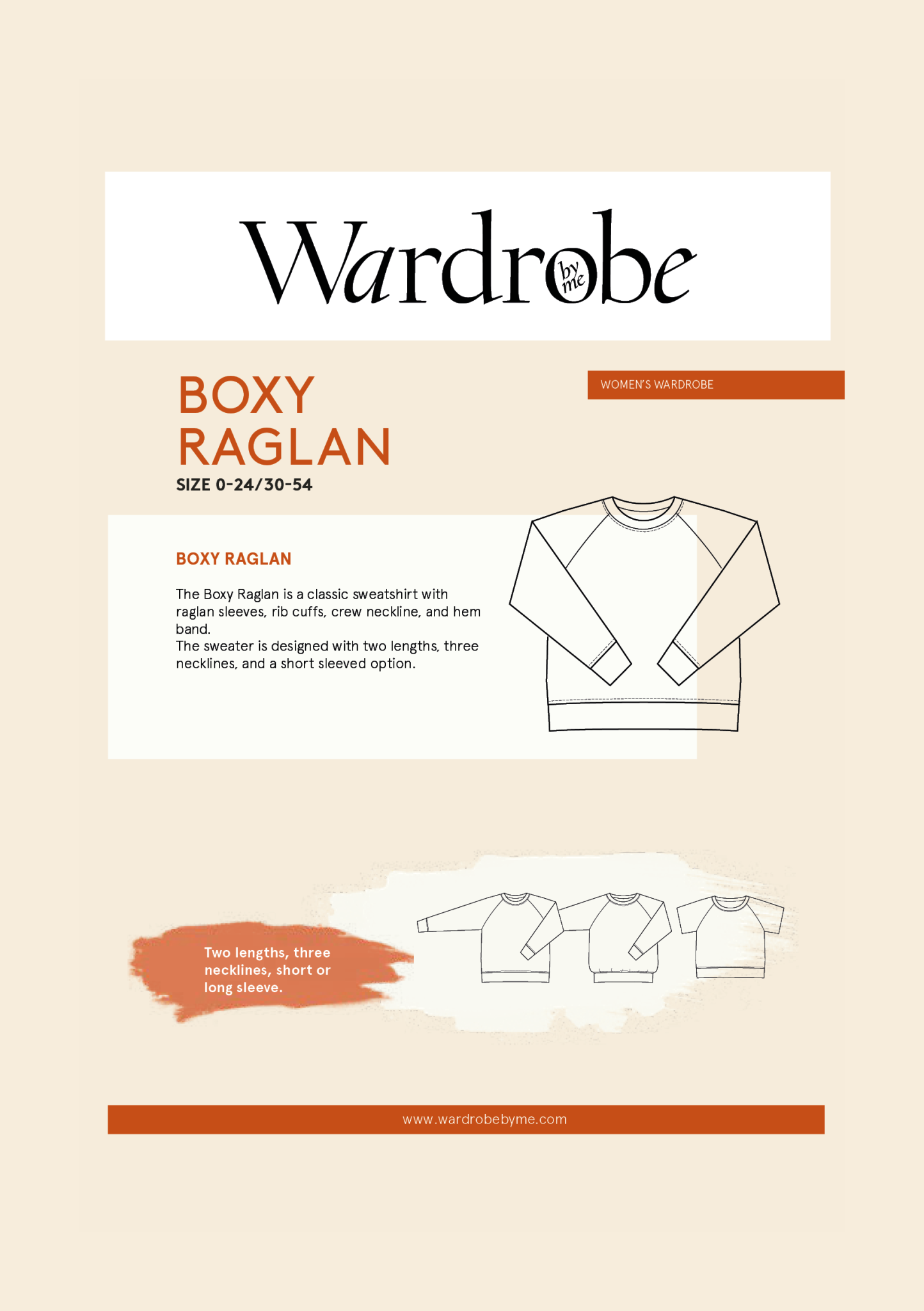 Wardrobe by Me Boxy Raglan Pattern 0-24 (30-54)
