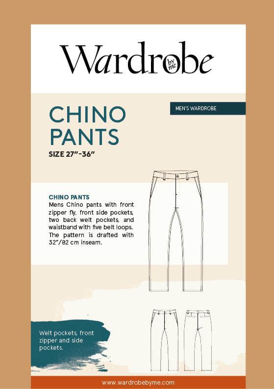 "Wardrobe by Me Chino Pants Pattern 27"" - 36"""