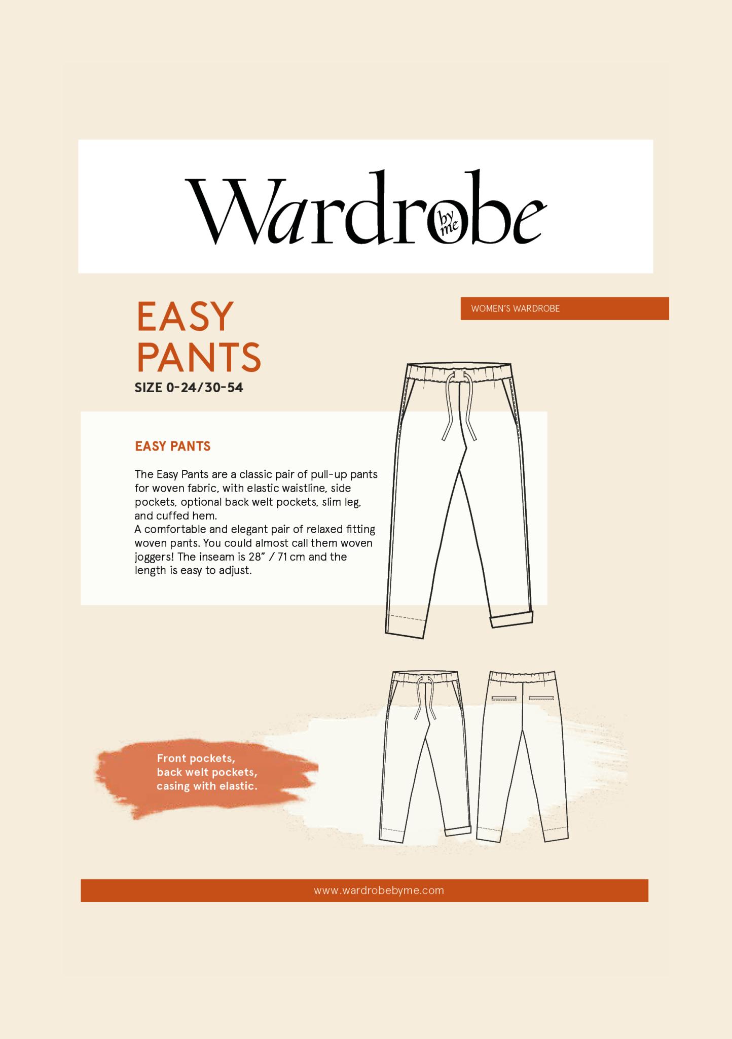 Wardrobe by Me Easy Pants Pattern 0-24 (30-54)