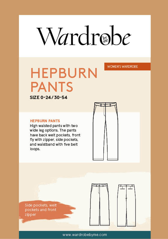 Wardrobe by Me Hepburn Pants Pattern 0-24 (30-54)