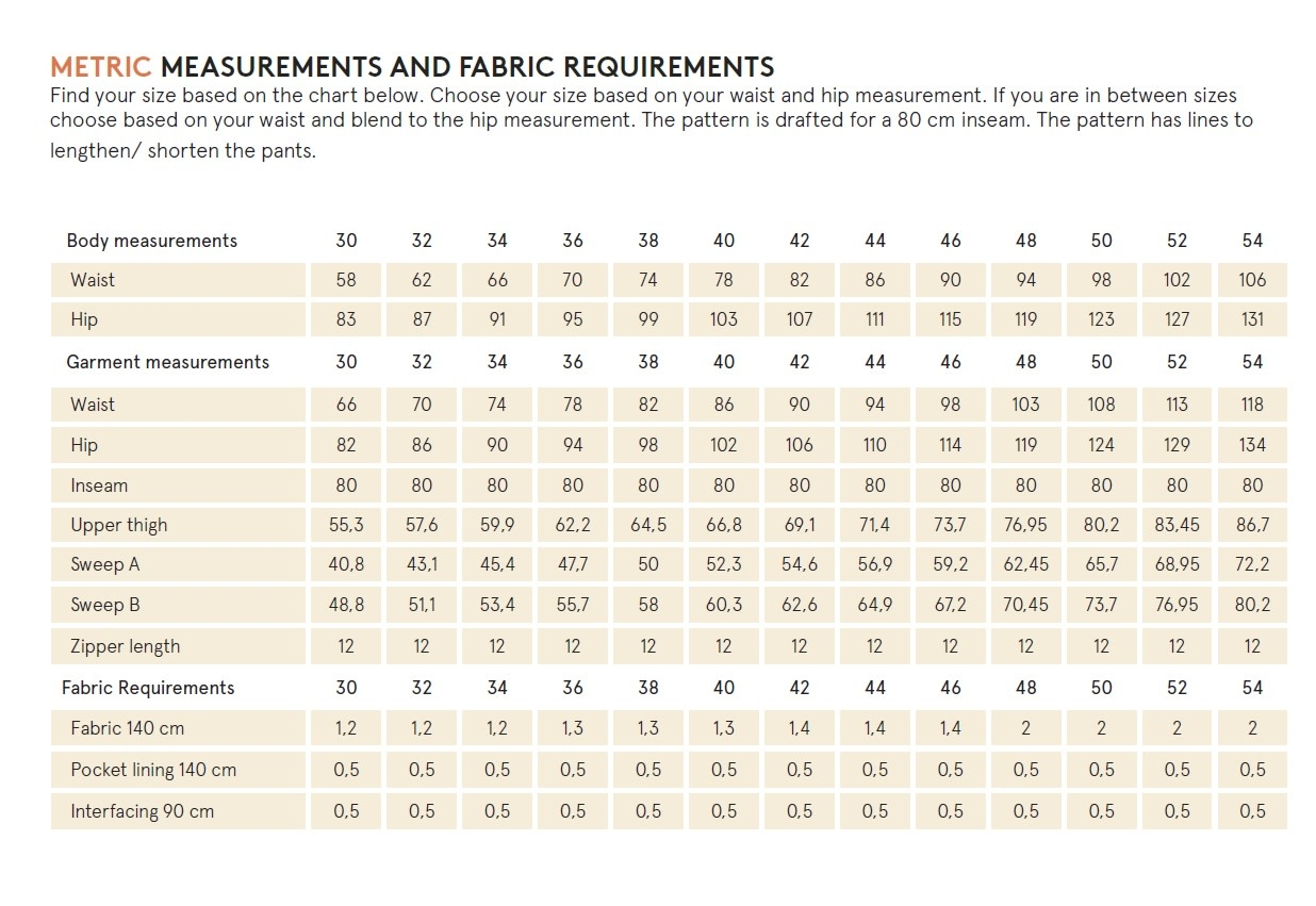 Wardrobe by Me Hepburn Pants Pattern 0-24 (30-54)