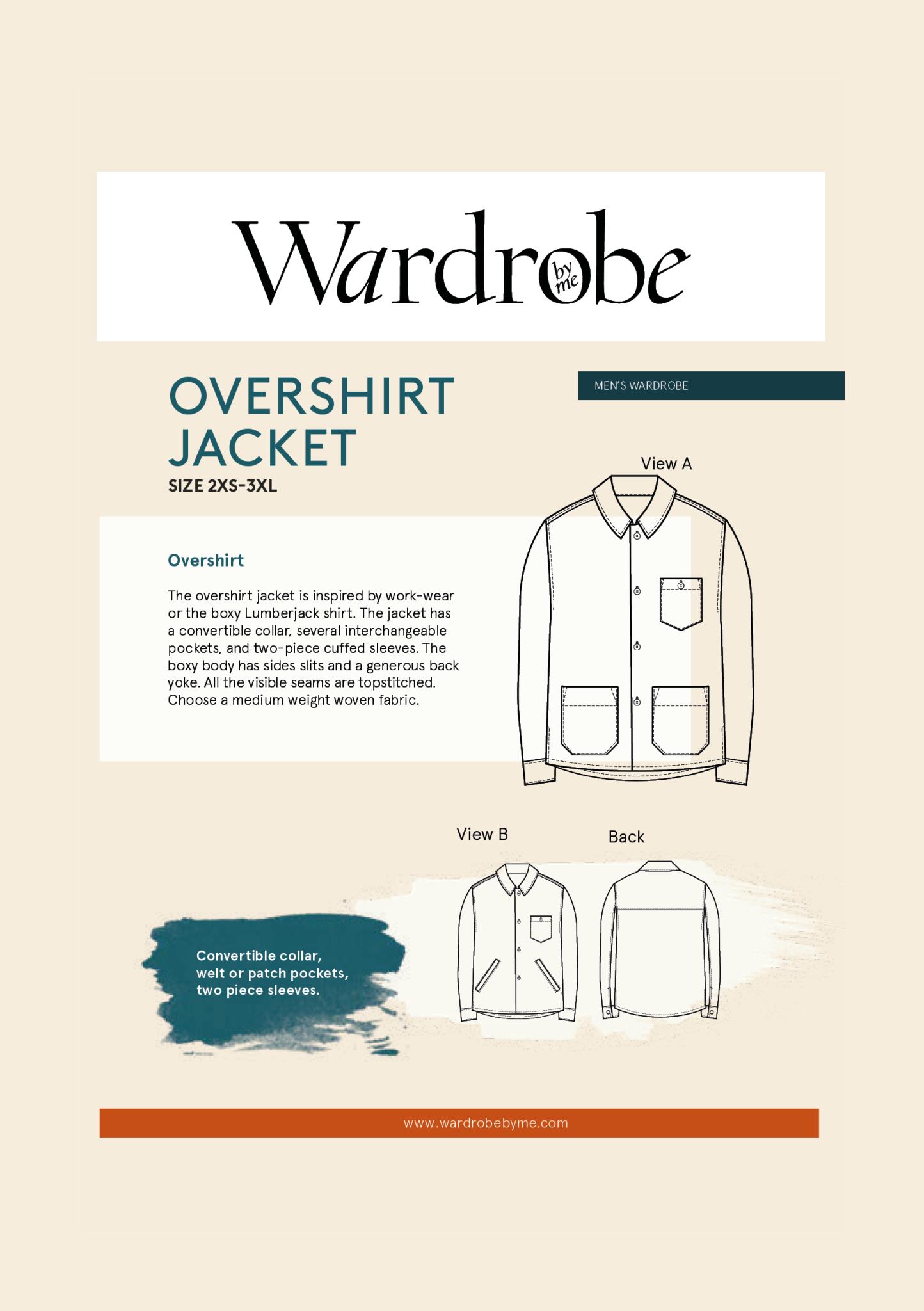 Wardrobe by Me Overshirt Jacket Pattern 2XS-3XL