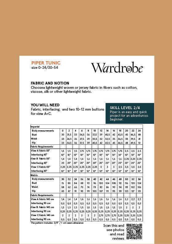 Wardrobe by Me Piper Boho Tunic Pattern 0-24 (30-54)