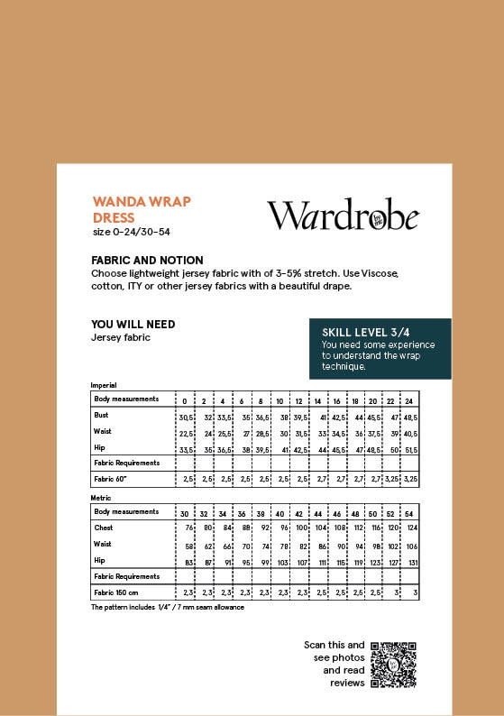 Wardrobe by Me Wanda Wrap Dress Pattern 0-24 (30-54)