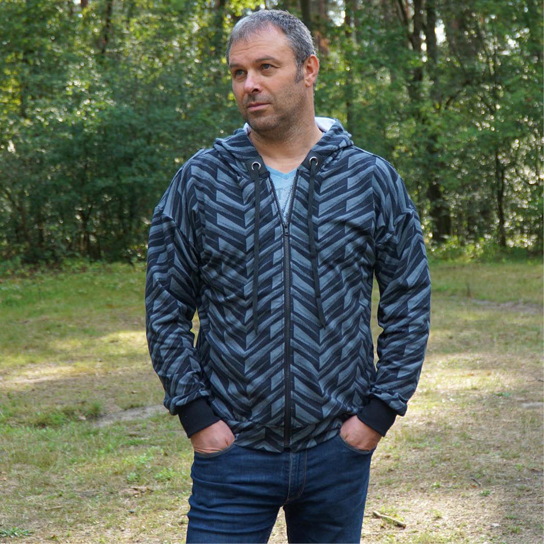 Wardrobe by Me Zipper Hoodie Pattern 2XS-3XL