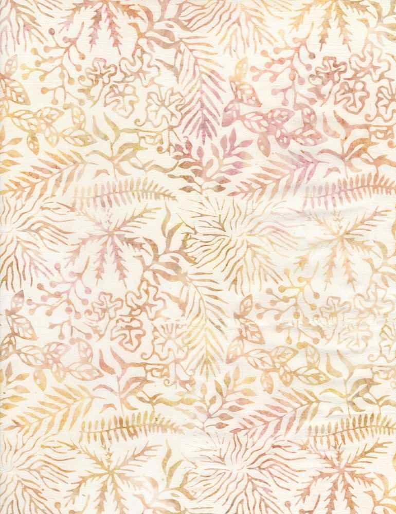 Tonga TONGA HORIZON, ASSORTED LEAVES Antique - PER CM OR $20/M BATIK