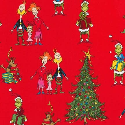 ROBERT KAUFMAN HOW THE GRINCH STOLE X-MAS, FAMILY,  RED $0.18/M OR $18/M