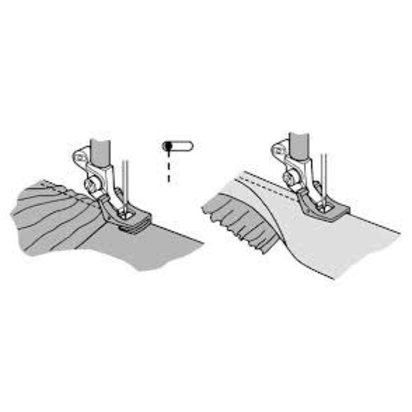 HUSQVARNA VIKING GATHERING FOOT HV BLISTER GRP 1-8