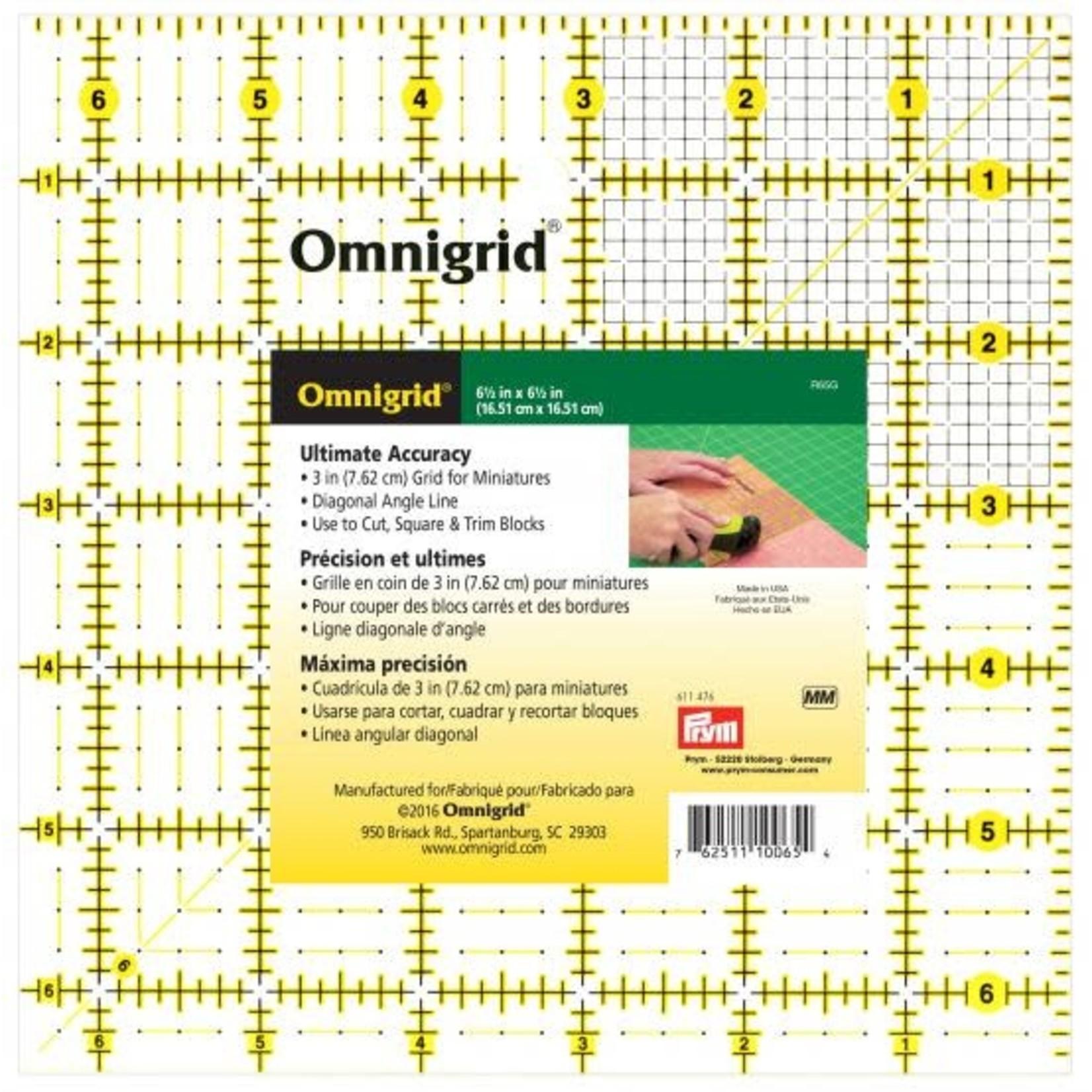 """Omnigrid Omnigrid Square Ruler - 6.5"""" x 6.5"""""""