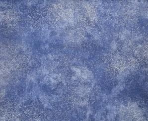 ROBERT KAUFMAN 85cm SHIMMER Silver on Blue $19/M