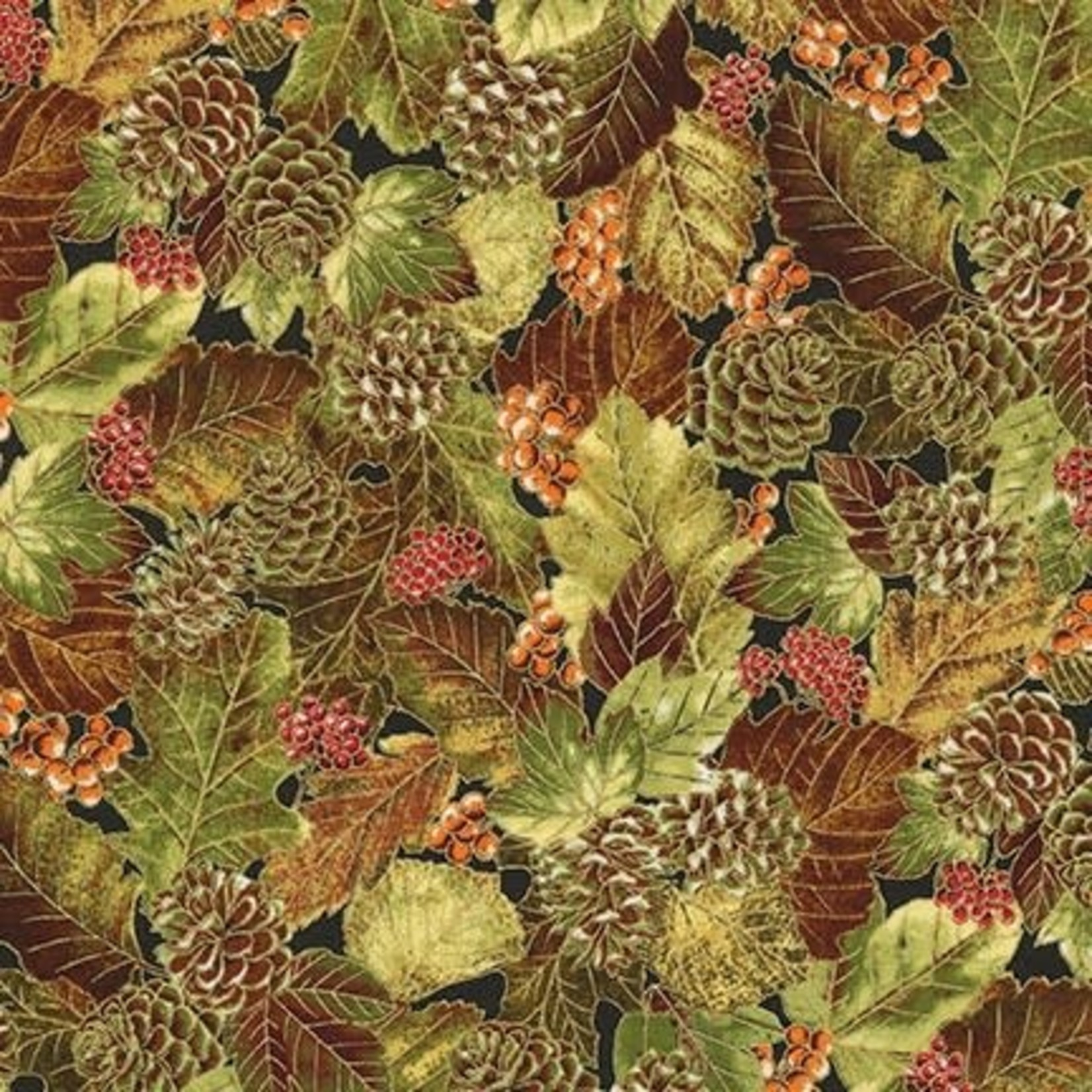 ROBERT KAUFMAN Autumn Beauties, AUTUMN FOLIAGE  /cm or $20/m