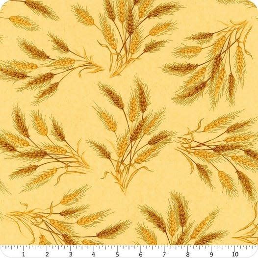 ROBERT KAUFMAN Autumn Beauties, WHEAT $0.20/cm or $20/m