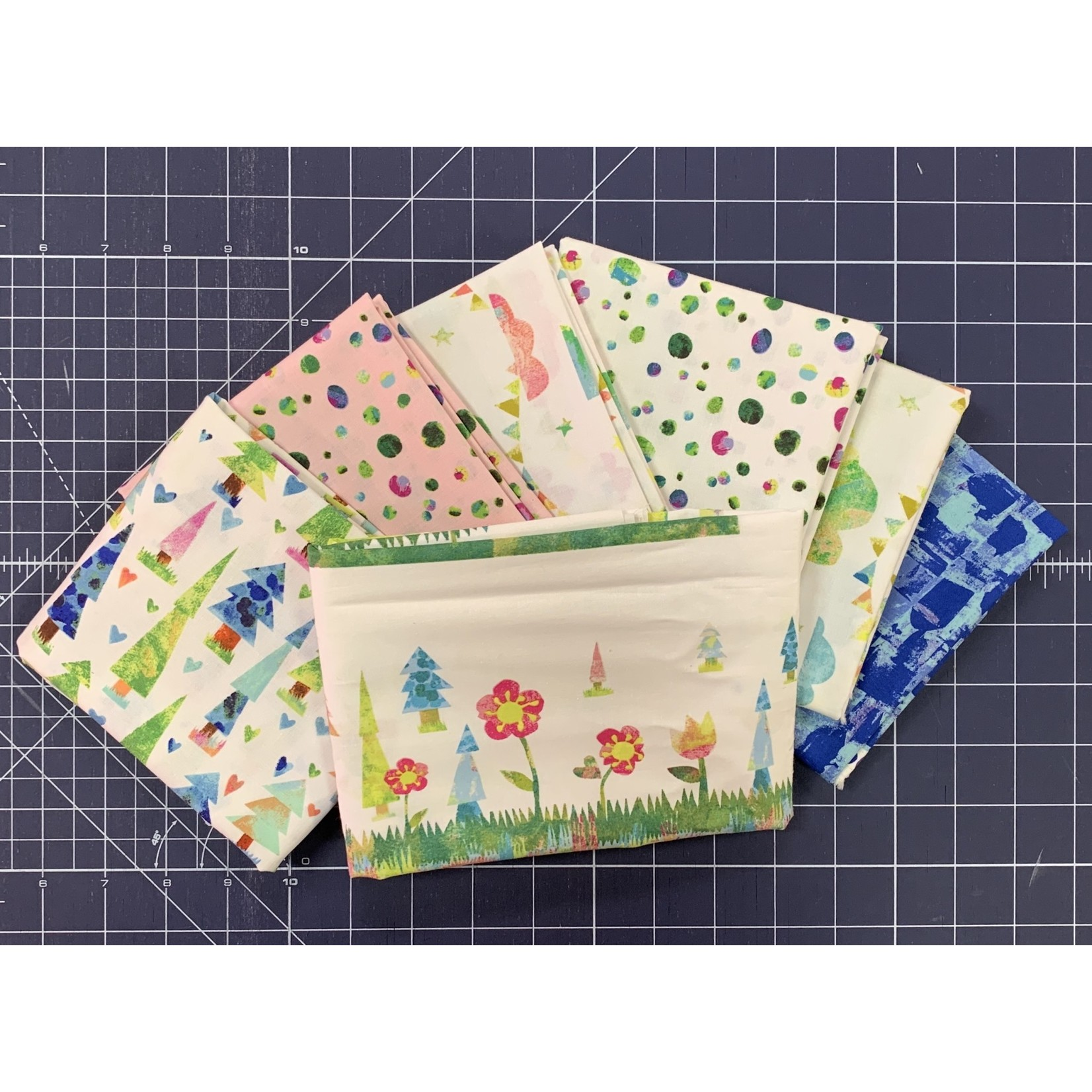 Clothworks YOU, ME AND THE TREES CURATED BUNDLE #3 - PANEL PLUS 6 HALF METRE CUTS