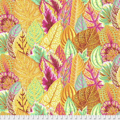 KAFFE FASSETT KF Collective Coleus - Yellow,  per cm $18/m