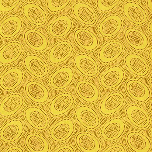 KAFFE FASSETT Aboriginal Dot - Gold,  per cm $18/m