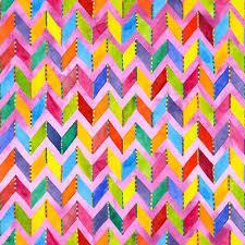 Blank Quilting Corp Loca Linda - Chevron, Pink PER CM OR $12/M