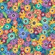 WILMINGTON PRINTS Floral Flight Crowded Flowers, Blue, PER CM or $16/m