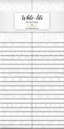 WILMINGTON PRINTS WHITE LITE 40 KARAT GEMS 40 Pieces
