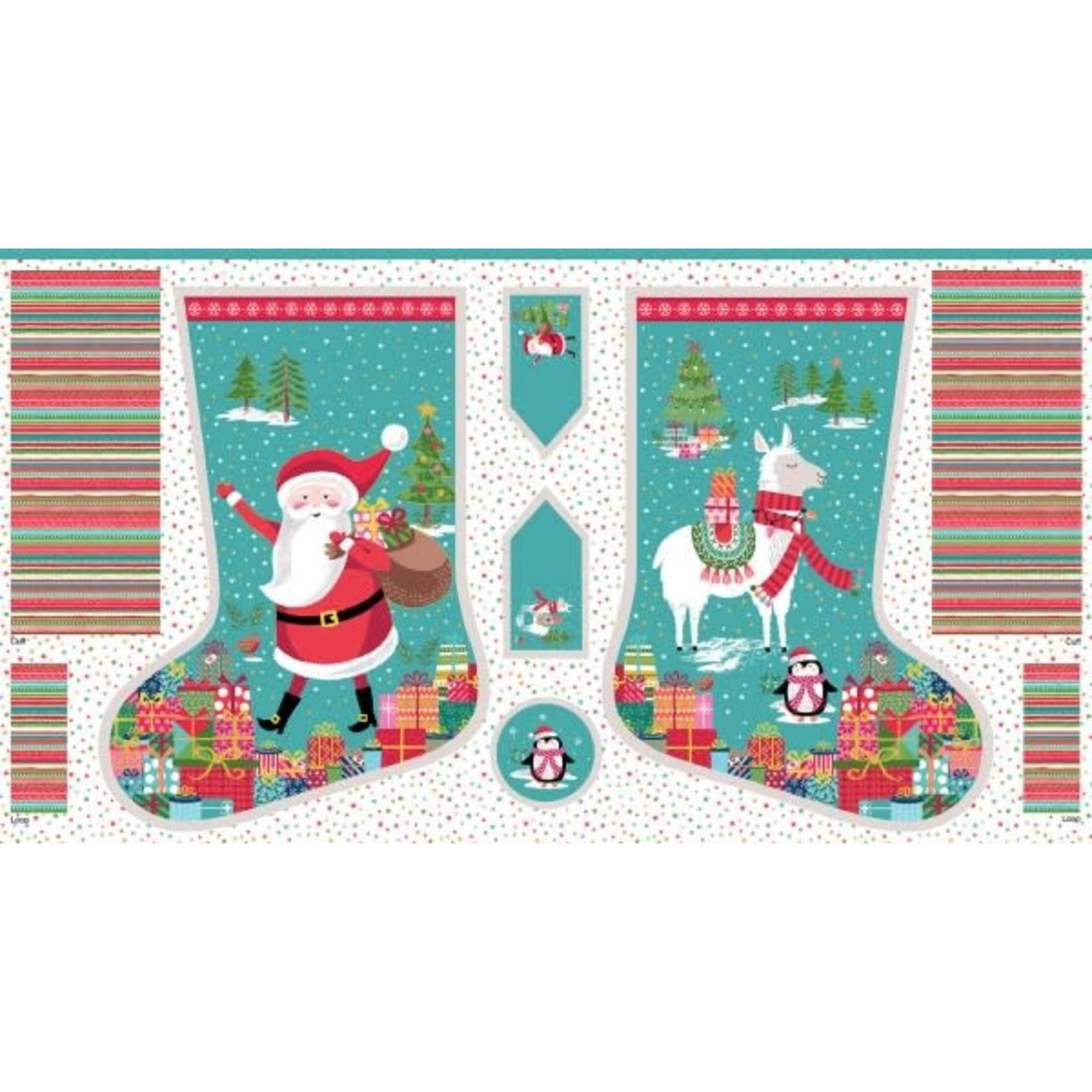 MAKOWER LET IT SNOW - Stocking Panel, Cream