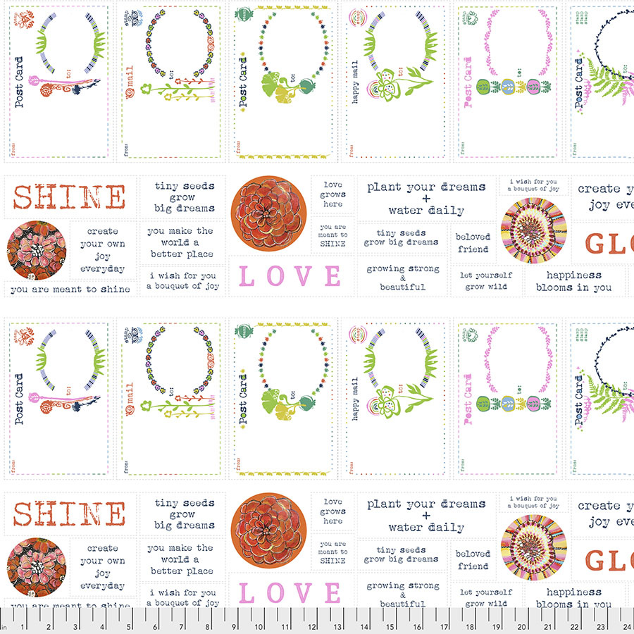 FREE SPIRIT SPIRIT OF THE GARDEN, SNAIL MAIL LOVE POSTCARDS PANEL