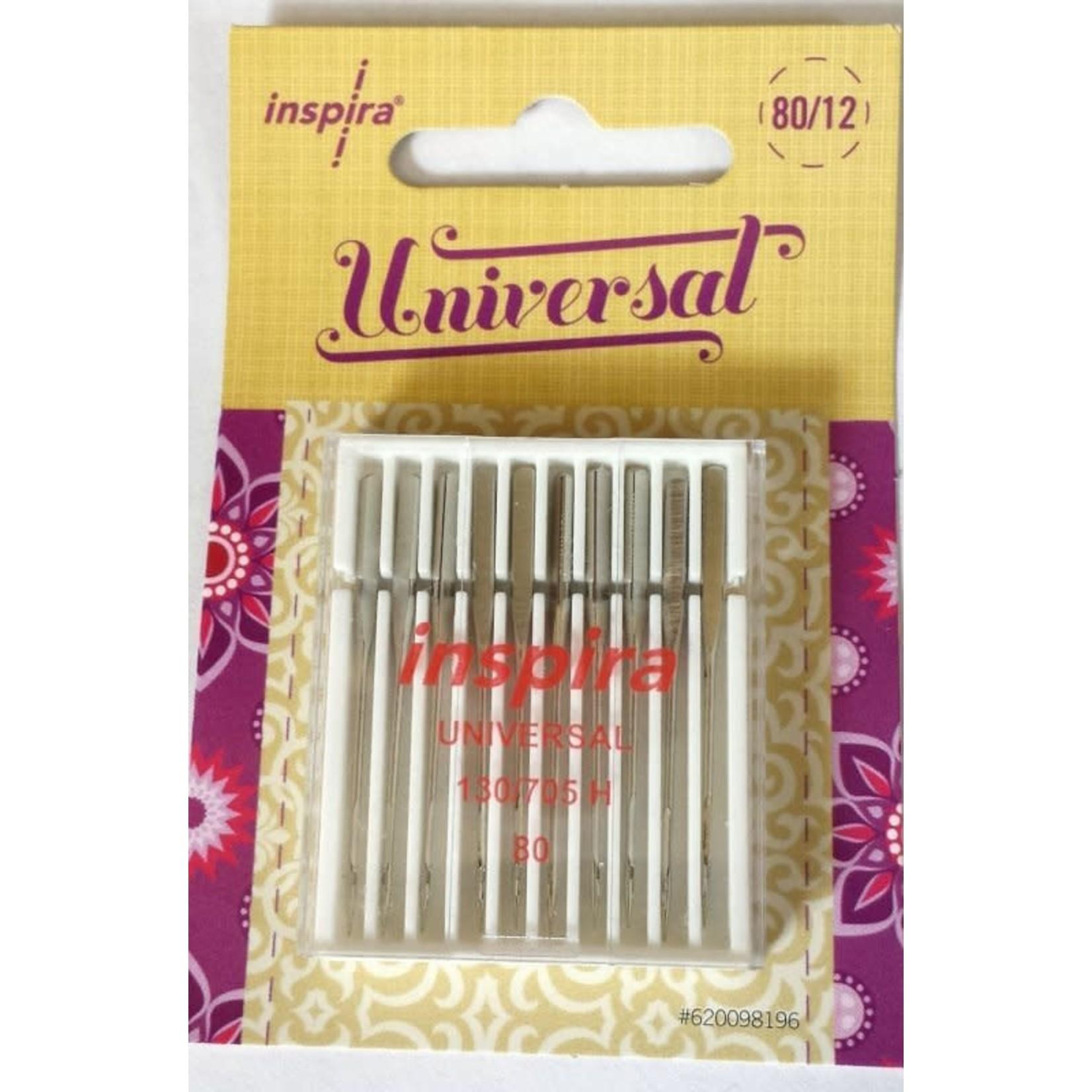 INSPIRA UNIVERSAL NEEDLES 80/12 10 pack
