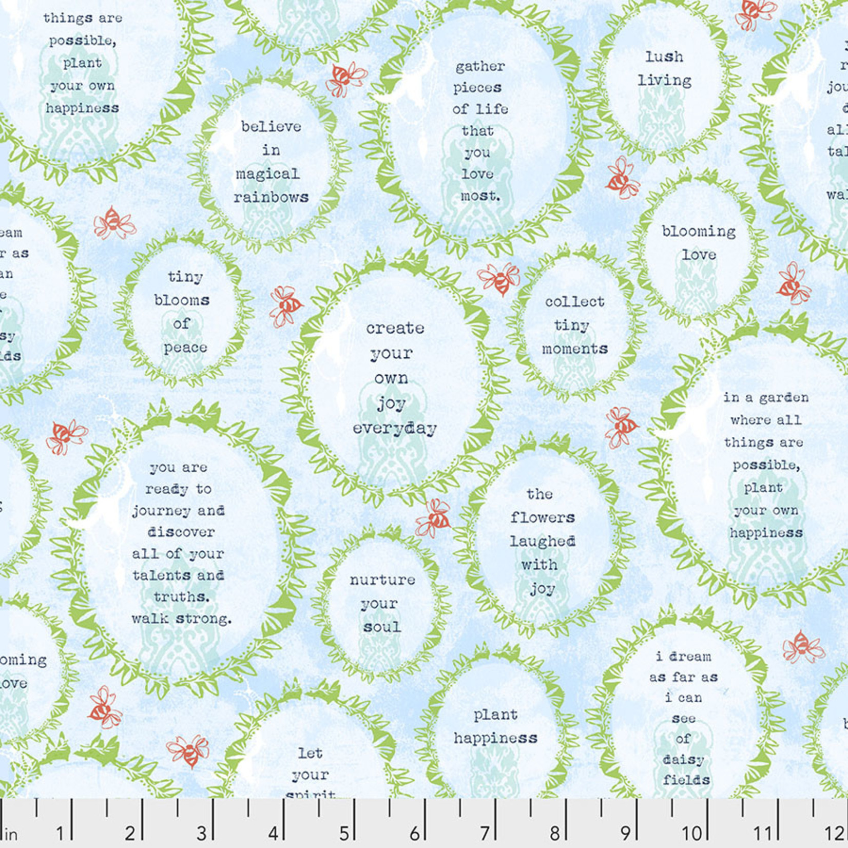FREE SPIRIT FAT QUARTER BUNDLE - SPIRIT OF THE GARDEN 10 PCS