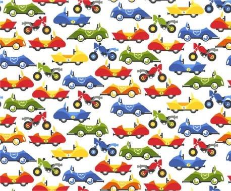CHILD MASK KIT - CARS ON WHITE