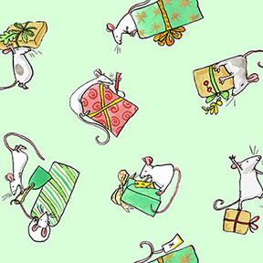 Clothworks Just What I Wanted, Mice Gifts on Mint