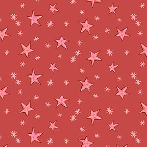 Clothworks Just What I Wanted, Stars on Red per CM or $20/M