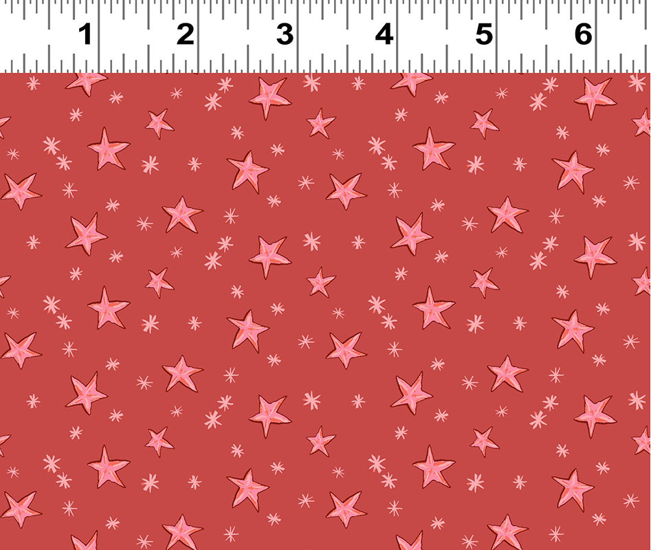 Clothworks Just What I Wanted, Stars on Red