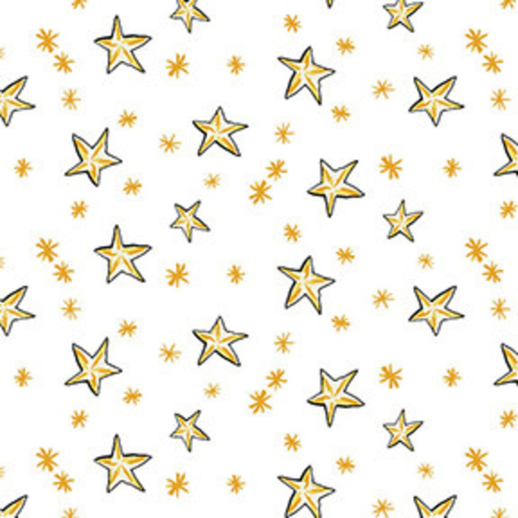 Clothworks Just What I Wanted, Stars on White per CM or $20/M