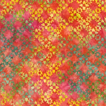 Tonga TONGA WATERMELON, FIESTA - PER CM OR $18/M BATIK