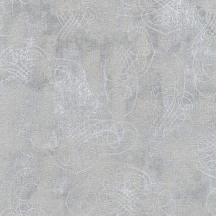 ROBERT KAUFMAN WINTER'S GRANDEUR 8, SILVER $0.20 /CM OR $20/M